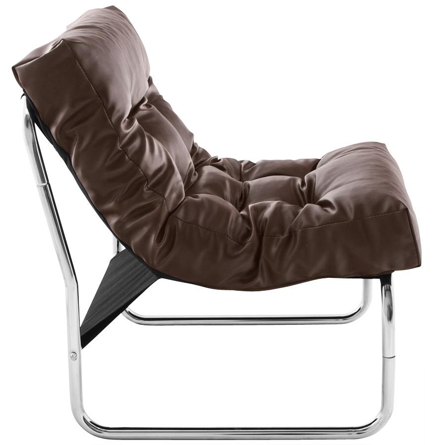 Fauteuil lounge ´LOFT´ brun