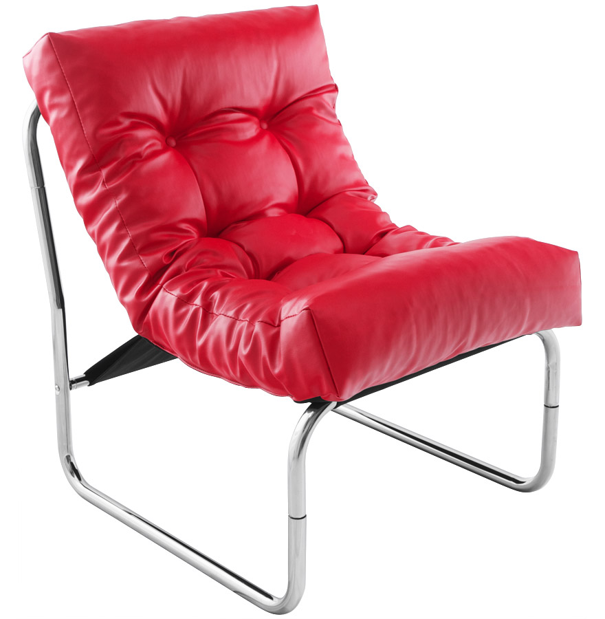 Fauteuil lounge ´LOFT´ rouge