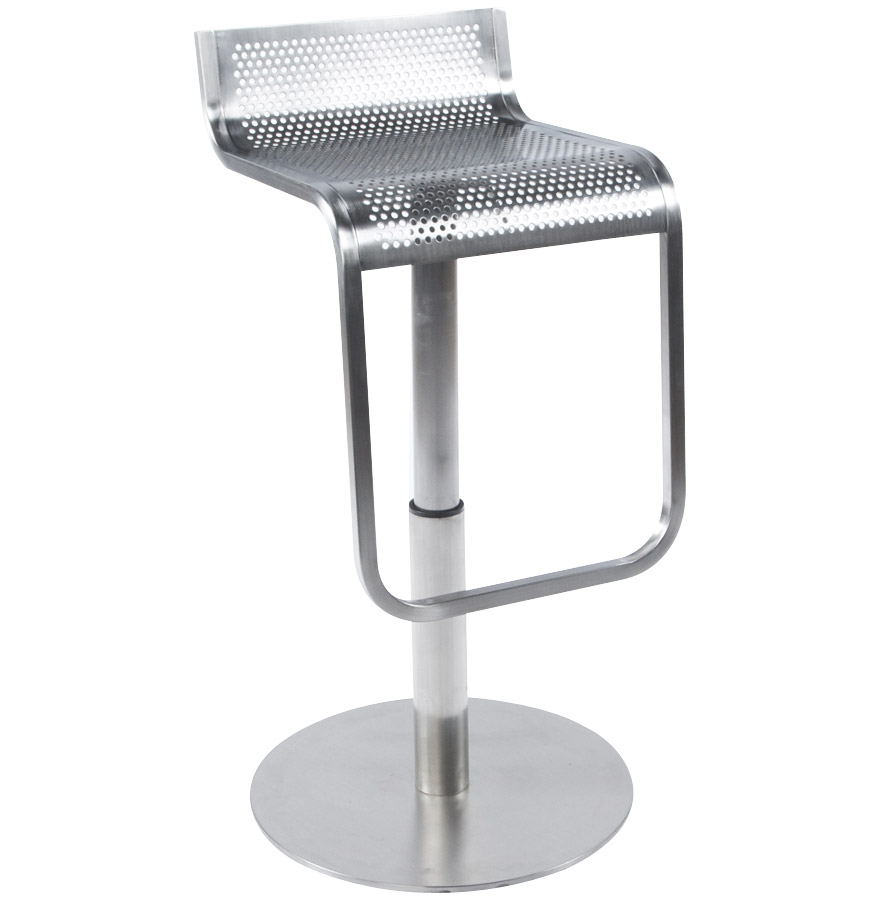 Tabouret de bar design logo en m tal bross style industriel - Tabourets de bar transparents ...