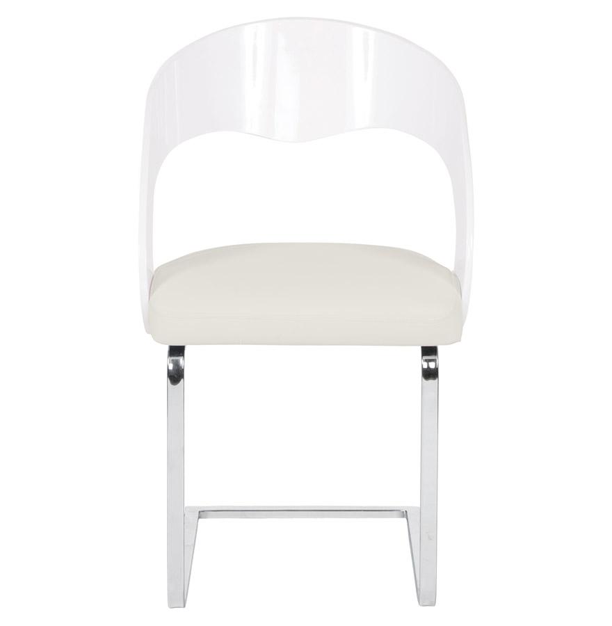 Chaise moderne ´LOLA´ pour salle à manger blanche
