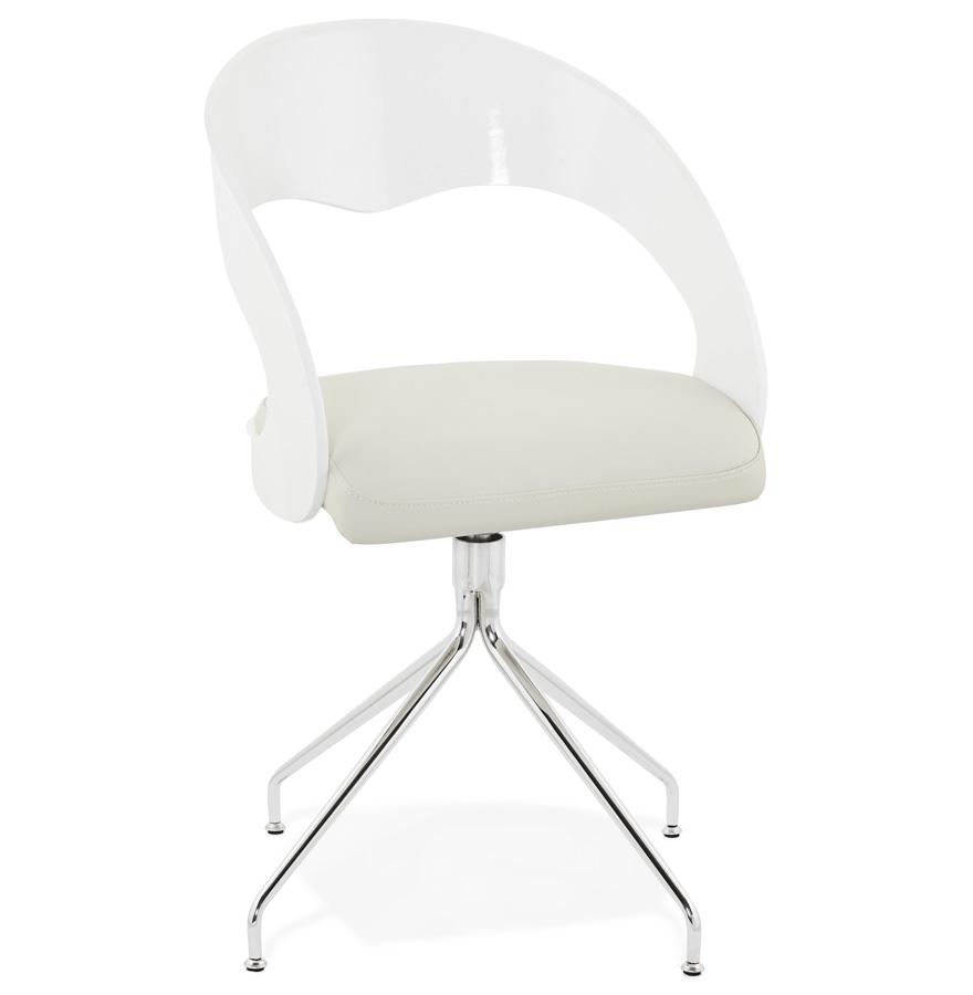 chaise vintage lolipop blanche pour salle manger chaise design. Black Bedroom Furniture Sets. Home Design Ideas