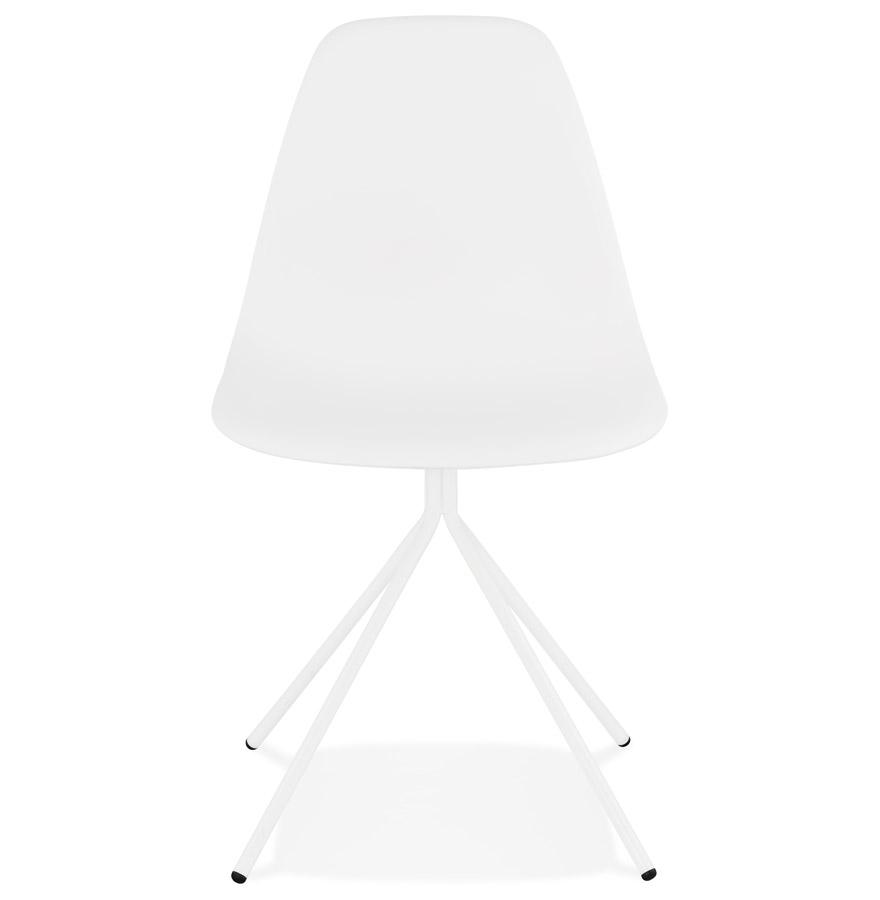 Chaise moderne ´LORY´ blanche avec pied en métal