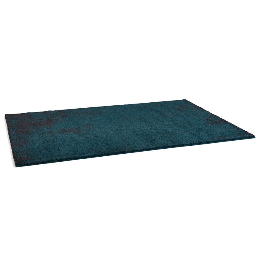 Tapis de salon ´LOUIX´ 160/230 cm bleu paon avec dégradé noir