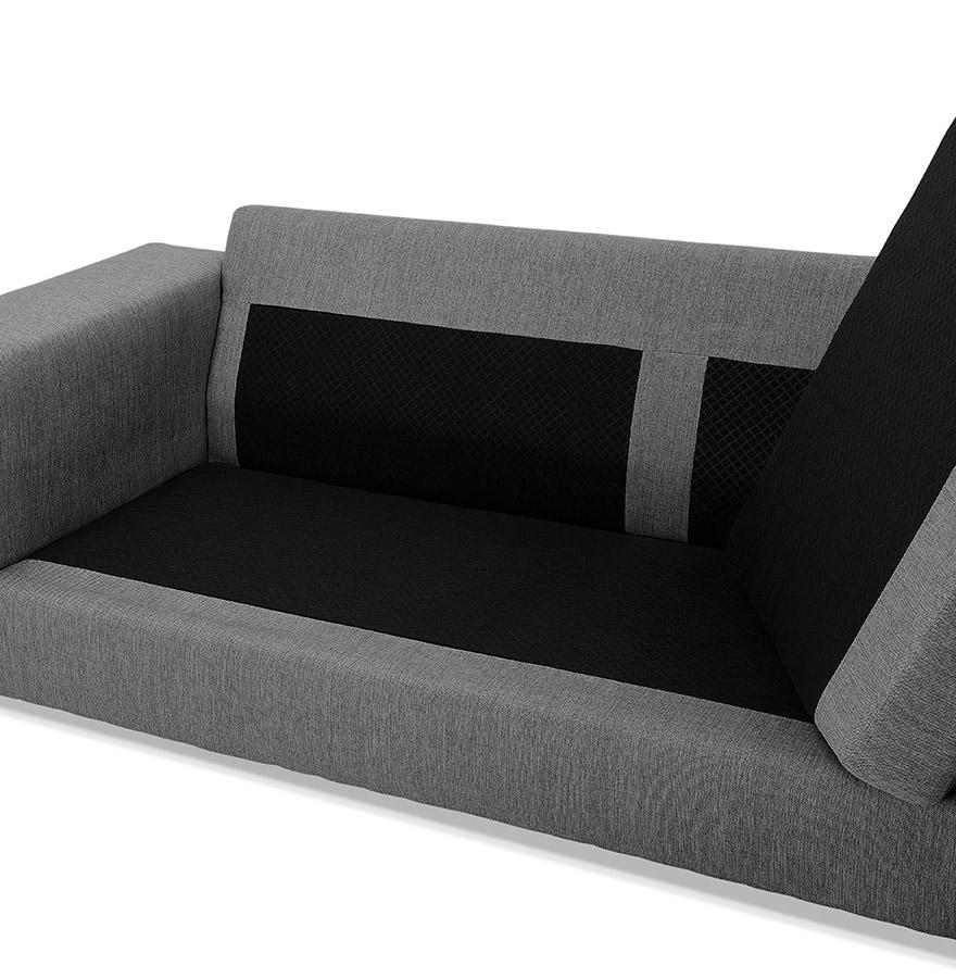 Moderne hoekbank luca l shape van donkergrijze stof hoek links - Sofa van de hoek uitstekende ...