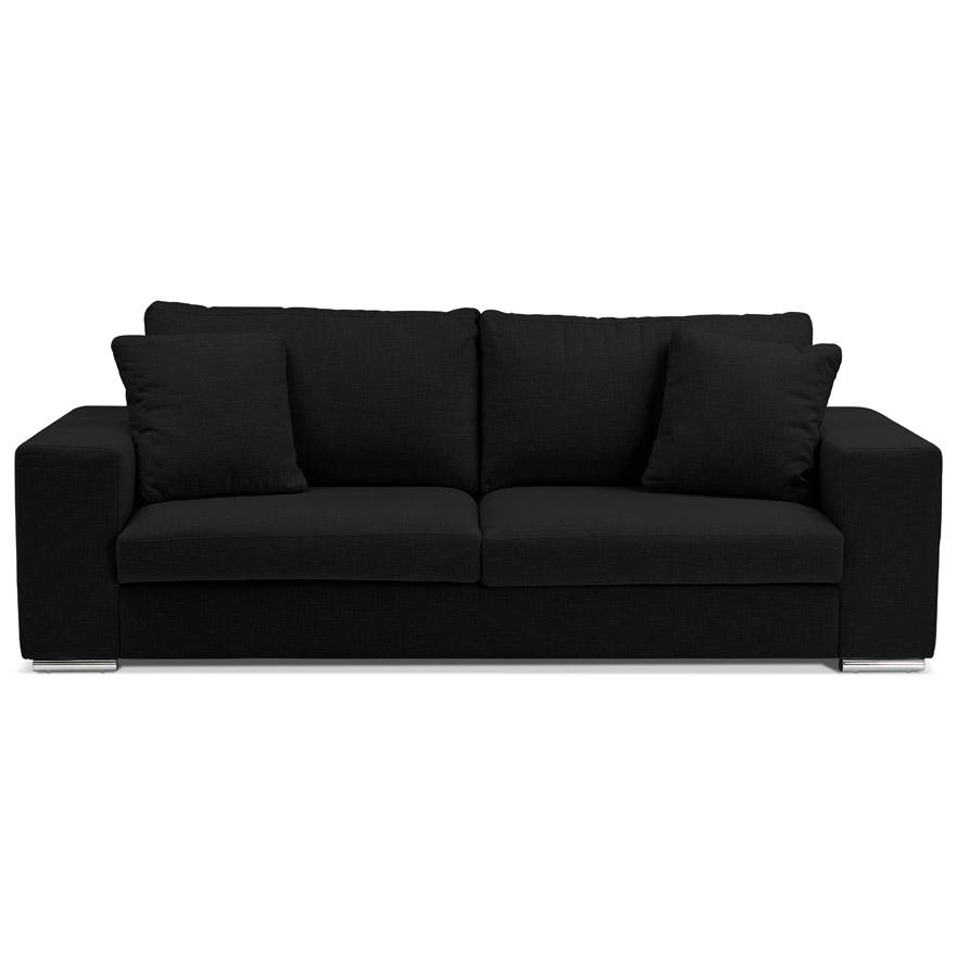 canap droit moderne luca en tissu noir canap design. Black Bedroom Furniture Sets. Home Design Ideas