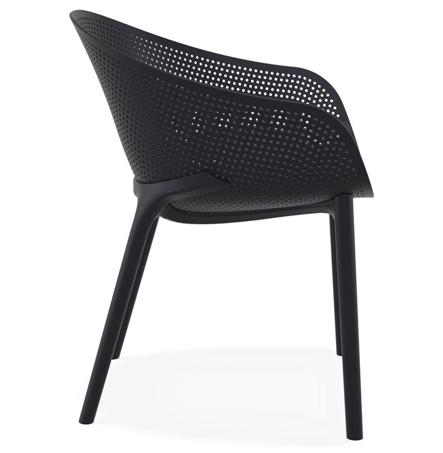 Chaise de terrasse perforée ´LUCKY´ noire design