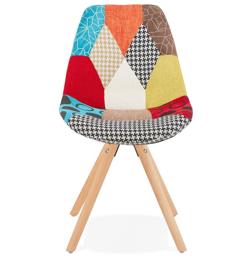 Chaise design ´LUCY´ en tissu style patchwork