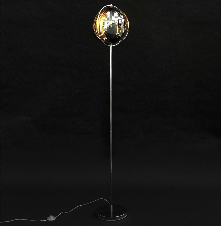 luna big chrome newsite 02 1 - Lampadaire design ´LUNA´ chrome avec lamelles flexibles en acier