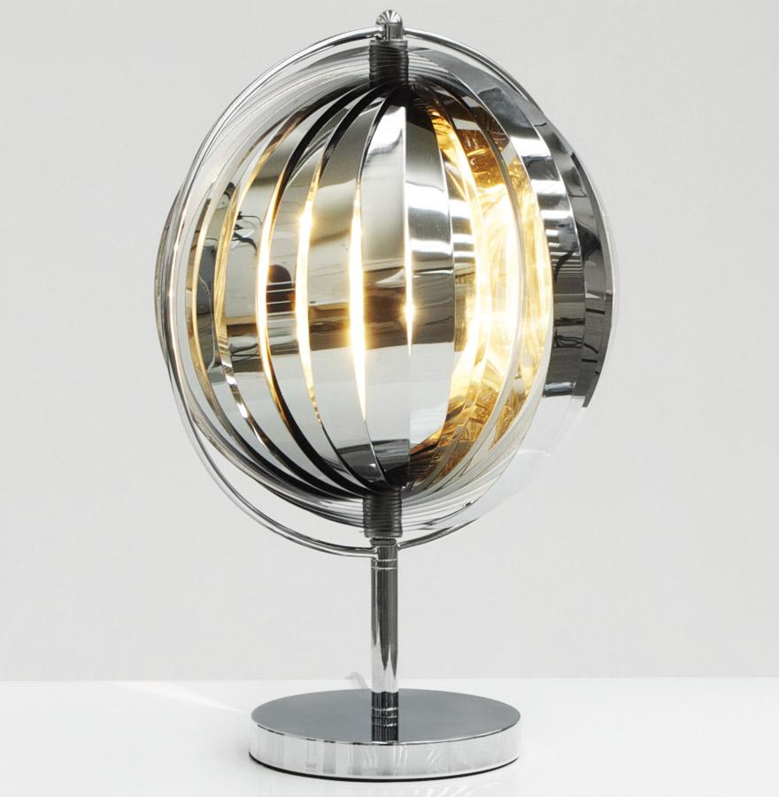 Lampe de table à poser ´LUNA´ à lamelles en métal