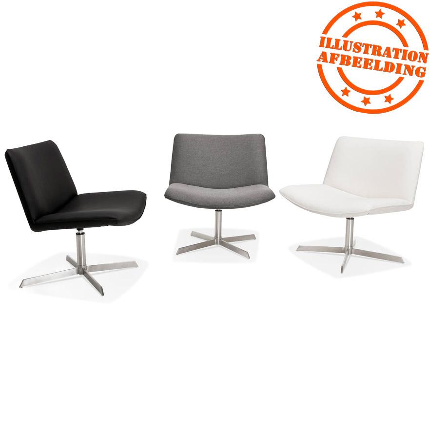 draaiende design zetel macao in witte kunststof. Black Bedroom Furniture Sets. Home Design Ideas