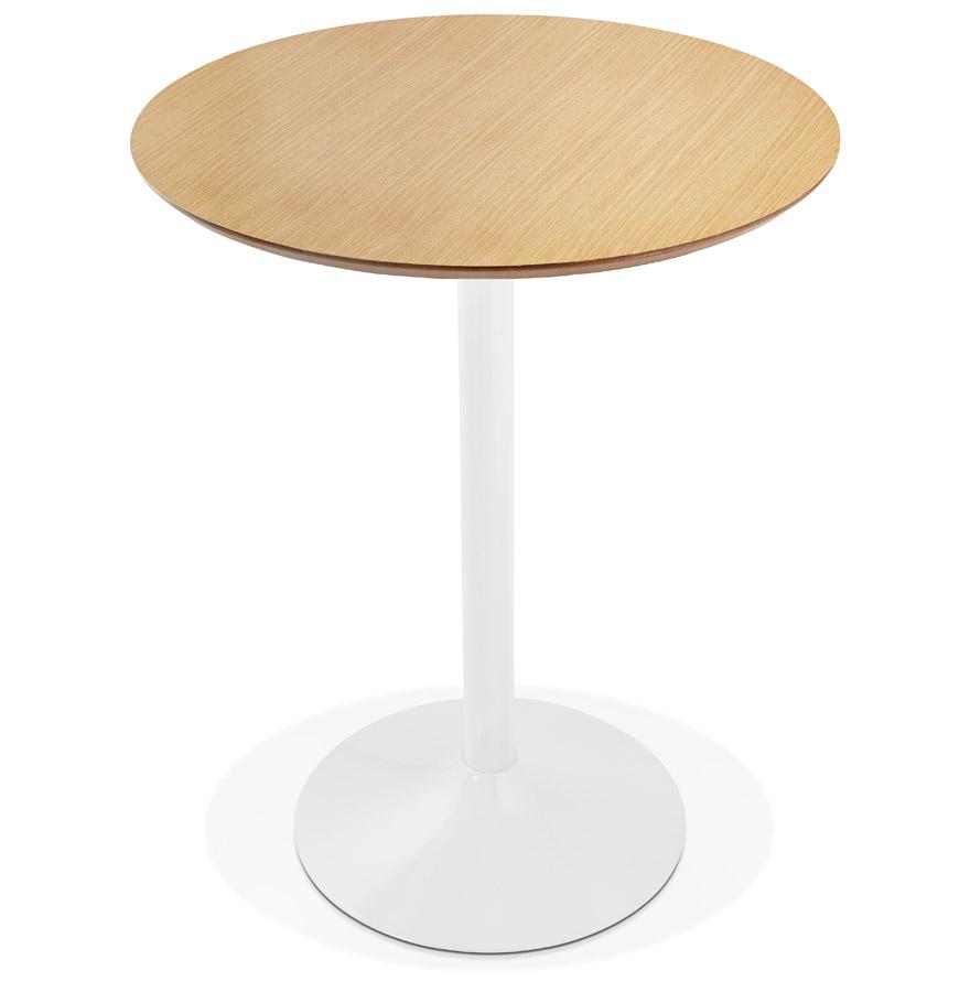 Mange-debout / table haute ´MADISON´ en bois finition naturelle - Ø 90 cm