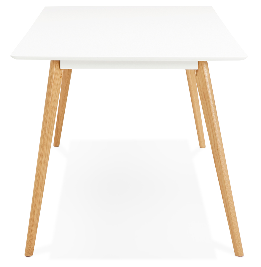 Table à manger design ´MADY´ blanche style scandinave - 200x90 cm
