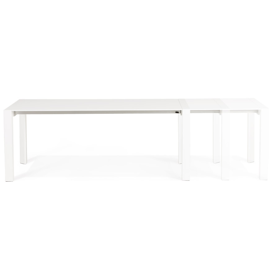Table design extensible ´MAMAT´ blanche mate - 190(270)x95 cm