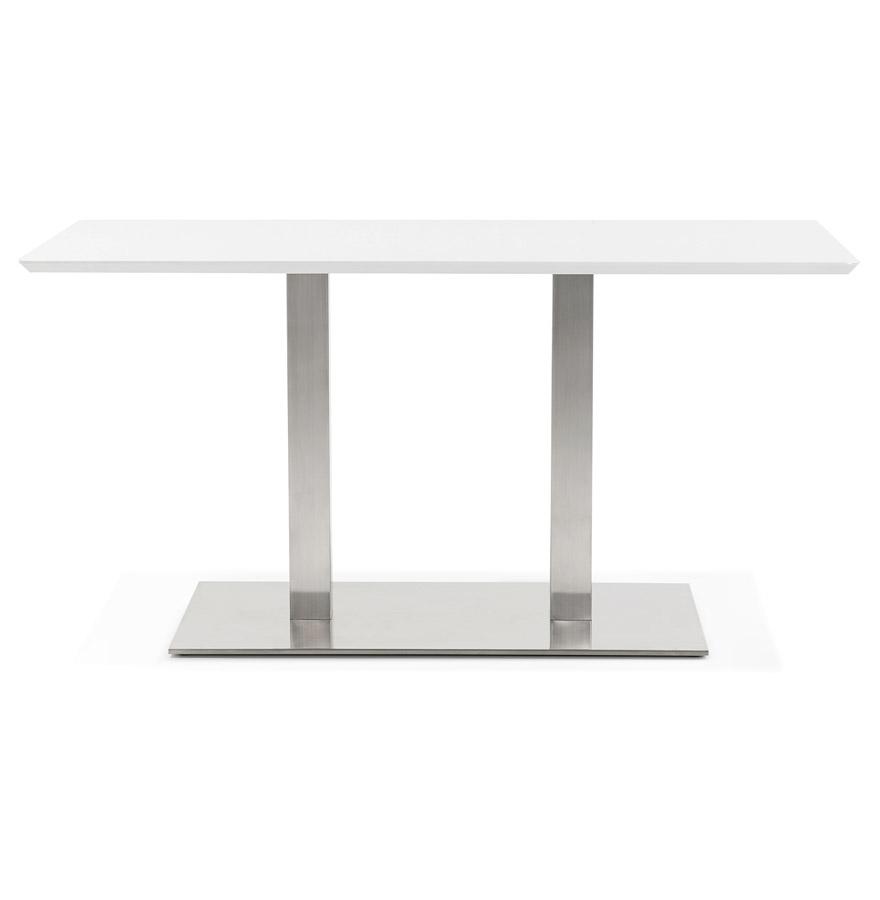 Table de r union mambo blanc 150x70 cm bureau design for Bureau 150x70