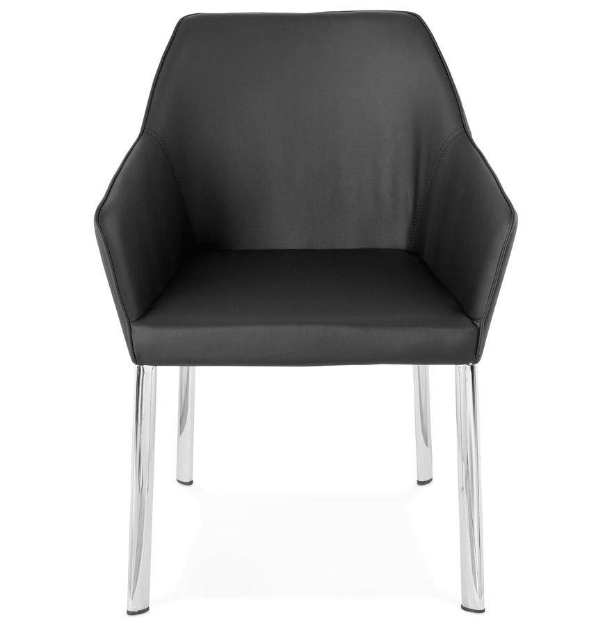 Chaise avec accoudoirs moderne ´MANATAN´ noire