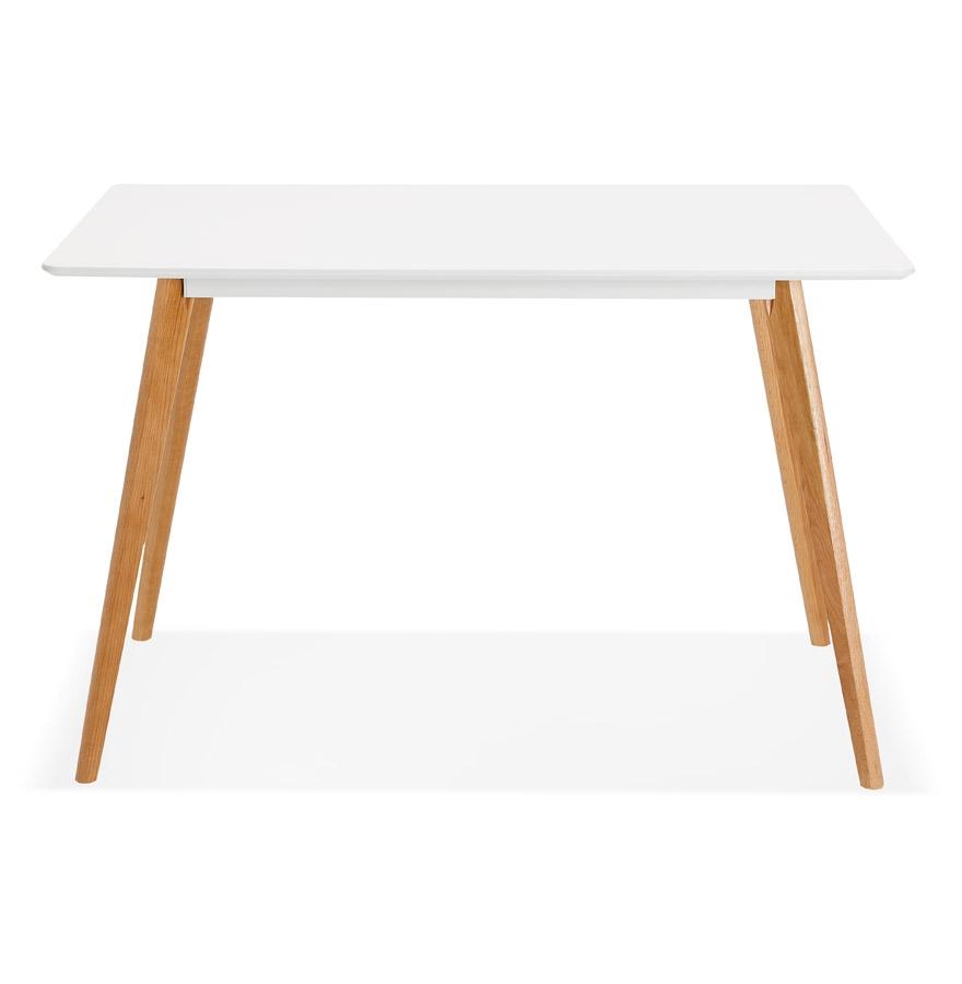 Petite table / bureau design ´MARIUS´ blanche style scandinave - 120x80 cm