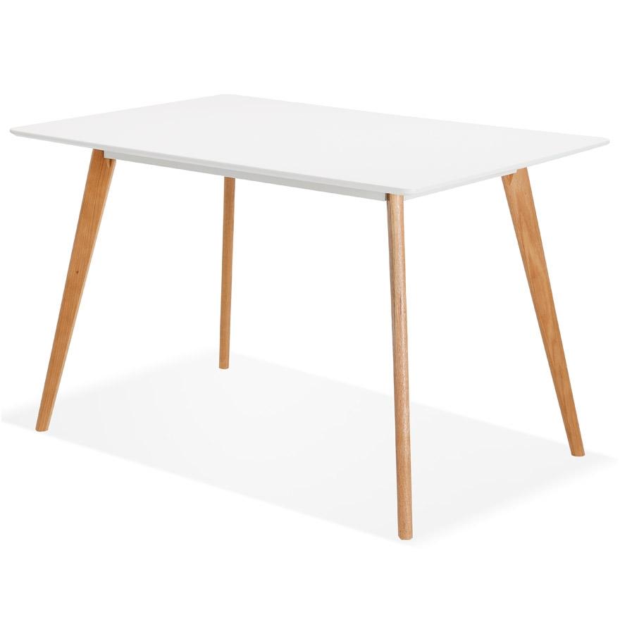 Petite table design marius blanche style scandinave for Petite table style scandinave