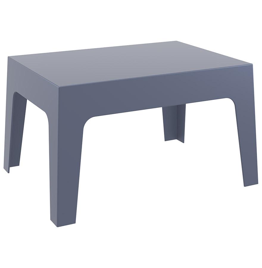 table basse de jardin marto grise fonc e en mati re plastique. Black Bedroom Furniture Sets. Home Design Ideas