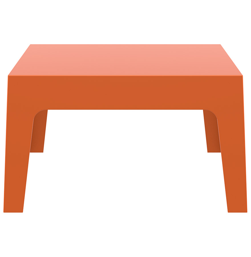 Table basse de jardin marto orange en mati re plastique for Table basse orange