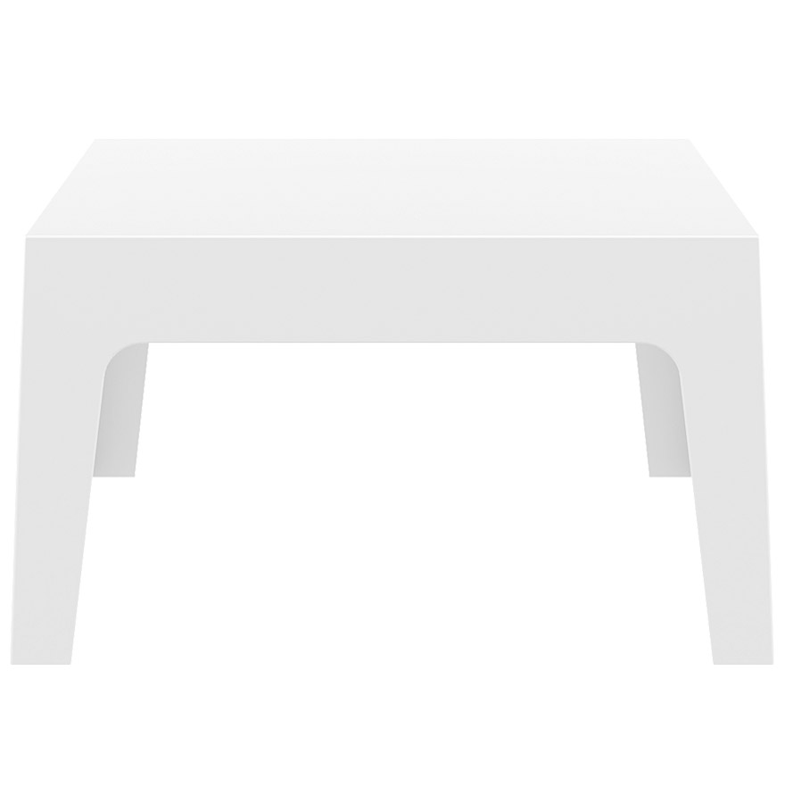 Table design marto table basse de jardin blanche en - Table basse en plastique ...