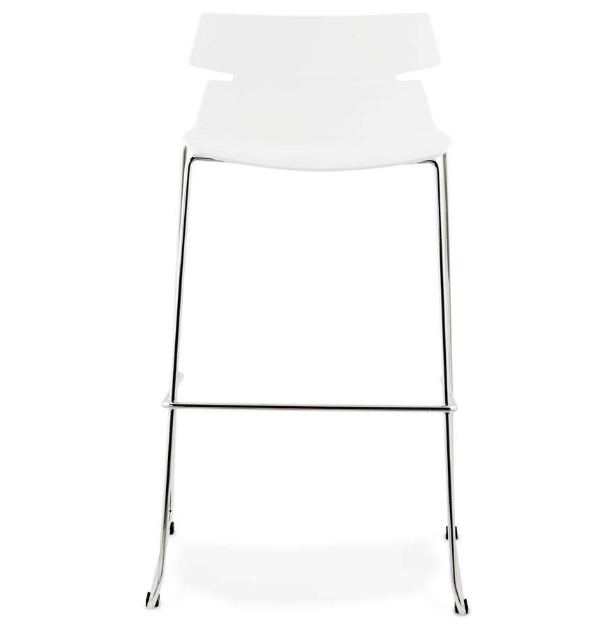 Tabouret haut ´MARY´ blanc empilable contemporain