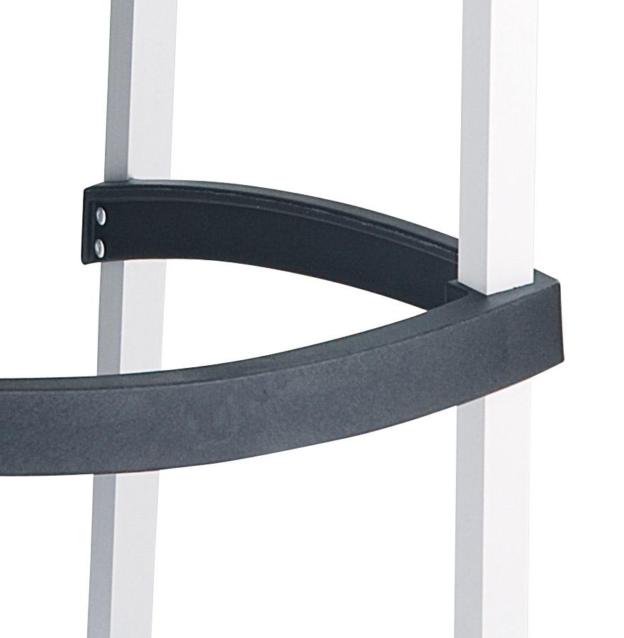 Tabouret de bar ´MATY´ noir empilable extérieur et intérieur