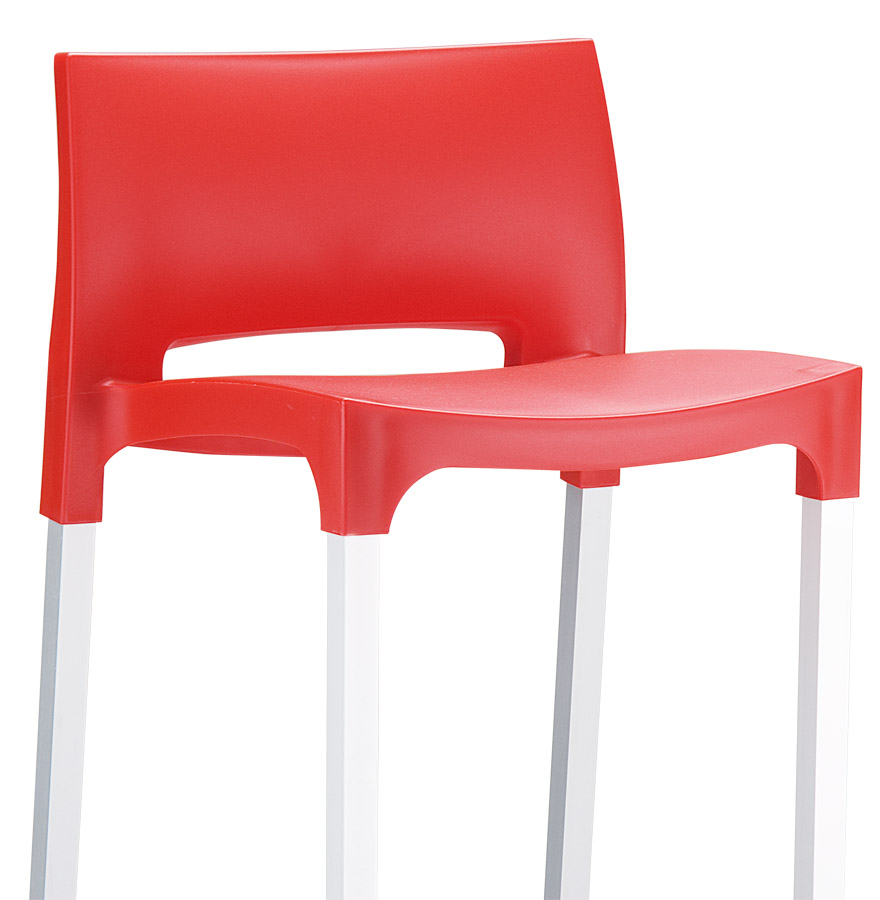 tabouret de bar maty rouge pour ext rieur et int rieur. Black Bedroom Furniture Sets. Home Design Ideas