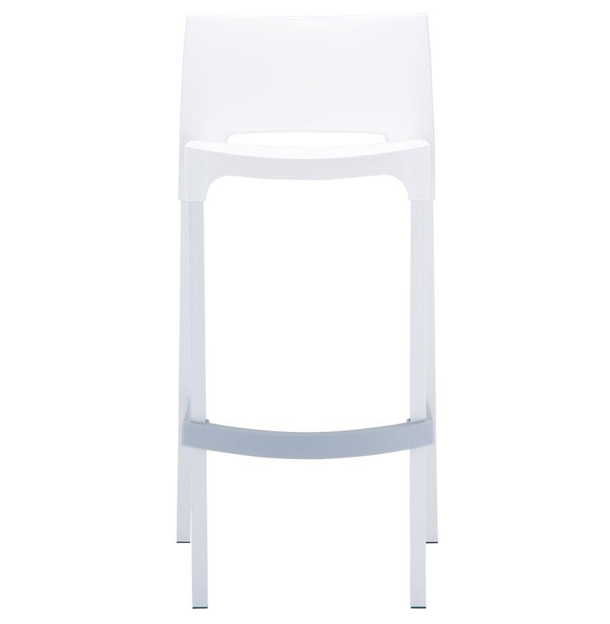 Tabouret de bar ´MATY´ blanc empilable extérieur et intérieur