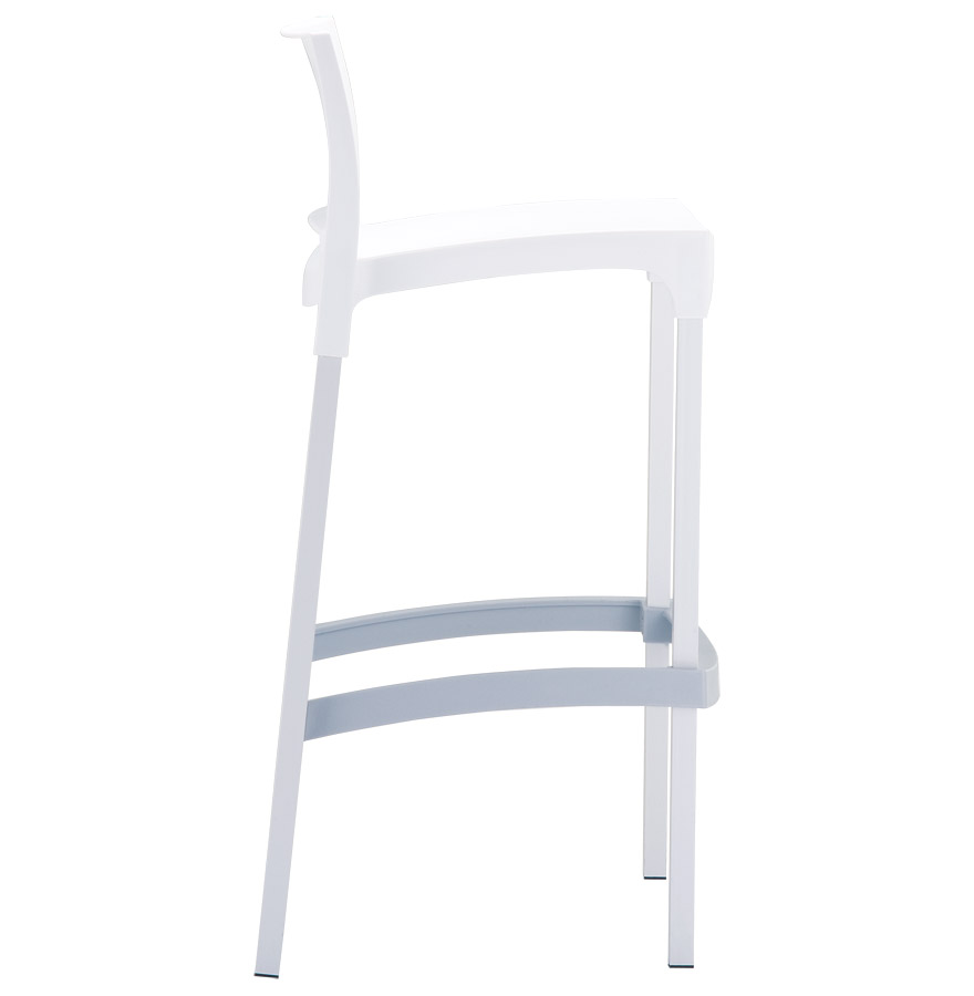 maty white 03 1 - Tabouret de bar ´MATY´ blanc empilable extérieur et intérieur