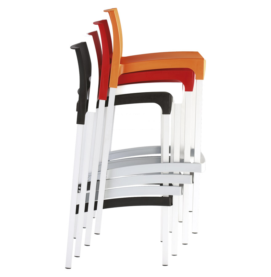 barkruk maty wit met rugleuning. Black Bedroom Furniture Sets. Home Design Ideas