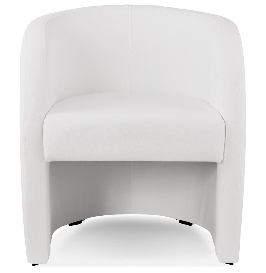 Fauteuil cabriolet de salon ´MAX´ en matière synthétique blanche