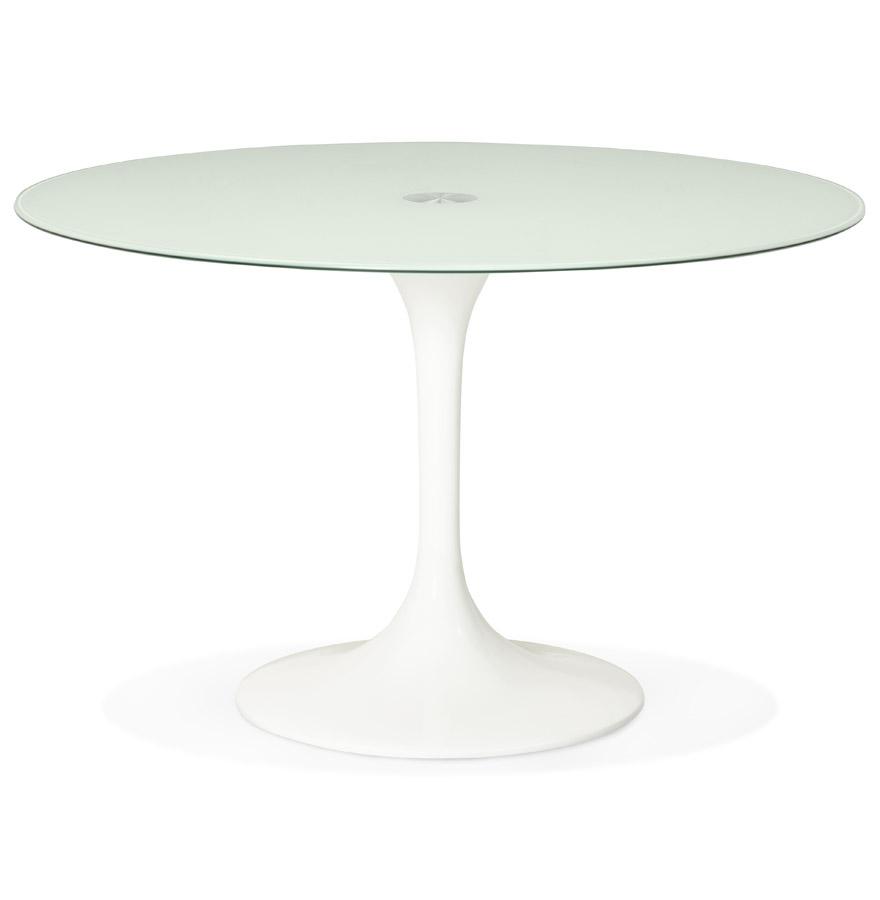 Table à dîner design ronde ´ALEXIA´ blanche - Ø 120 cm