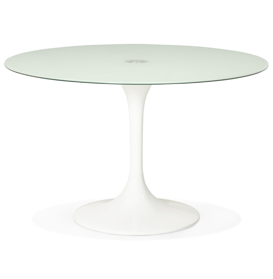miam white h2 01 1 - Table à dîner design ronde ´ALEXIA´ blanche - Ø 120 cm