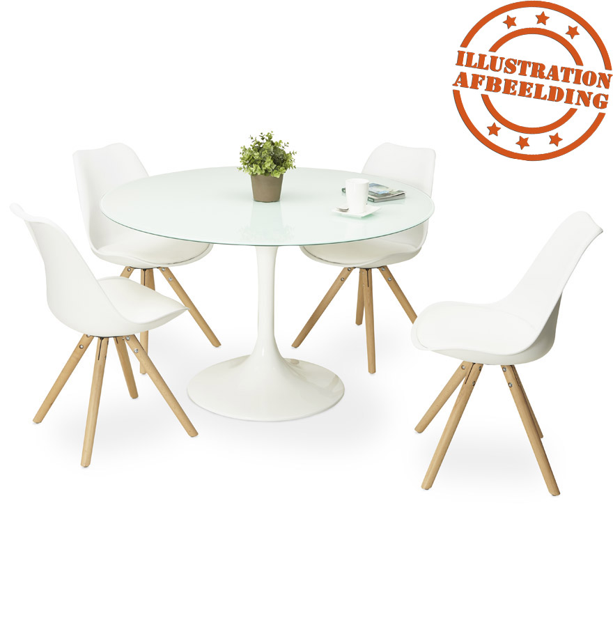 table d ner design ronde alexia blanche table design 120 cm. Black Bedroom Furniture Sets. Home Design Ideas