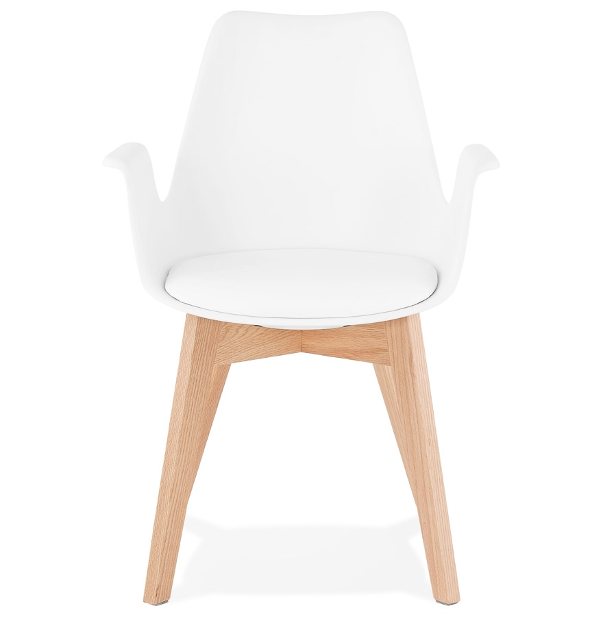 mistral white natural h2 02 - Chaise avec accoudoirs ´MISTRAL´ blanche style scandinave