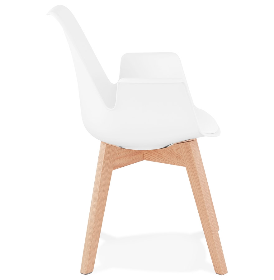 mistral white natural h2 03 - Chaise avec accoudoirs ´MISTRAL´ blanche style scandinave