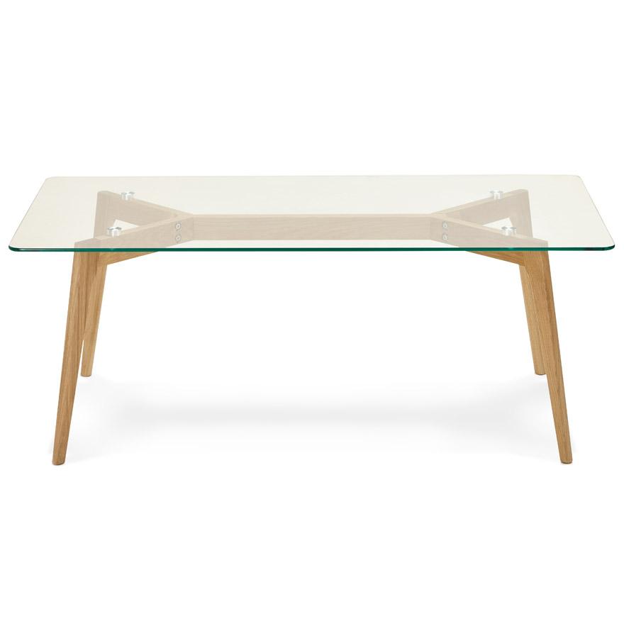 Table basse de salon design ´MOLY´ en verre