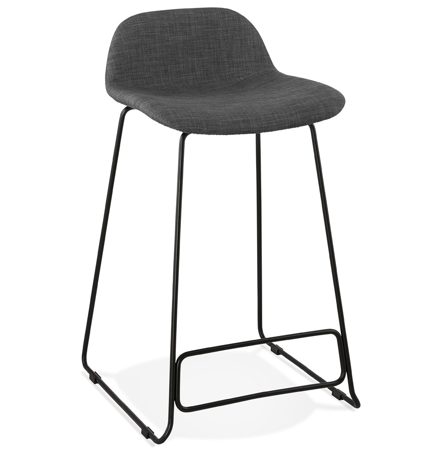 tabouret snack mi hauteur moskow mini noir style industriel. Black Bedroom Furniture Sets. Home Design Ideas