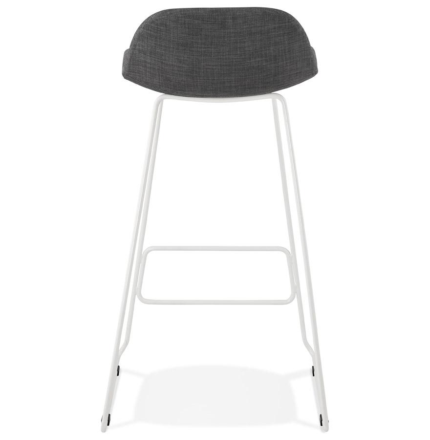 tabouret de bar moskow gris et blanc tabouret design. Black Bedroom Furniture Sets. Home Design Ideas