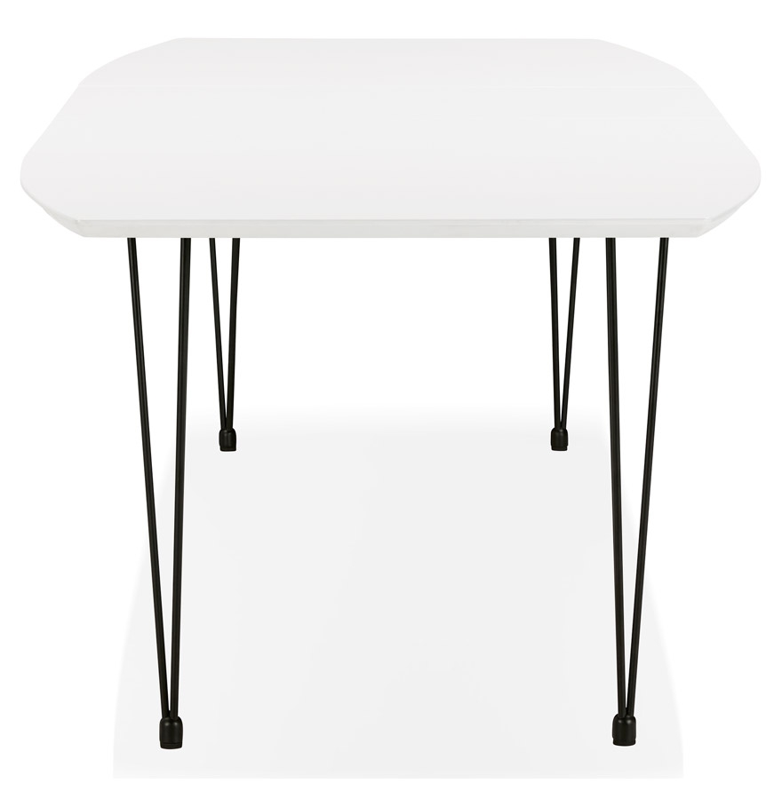 Table d ner extensible motus blanche 170 270 x100 cm for Table extensible 270
