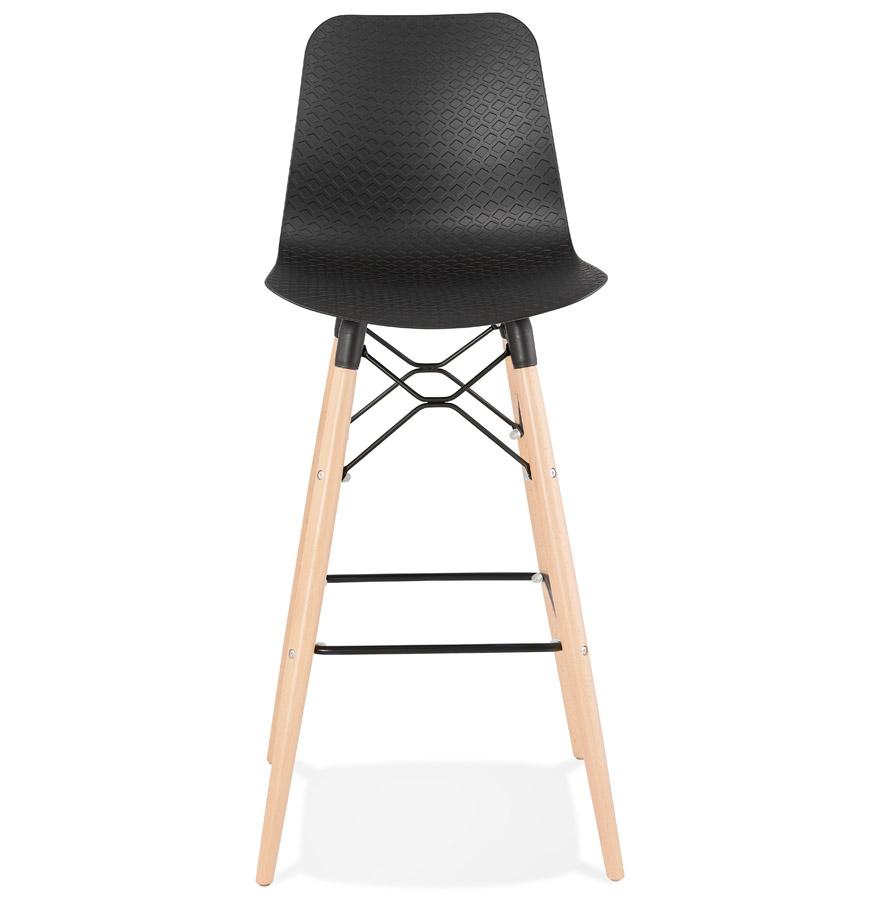 Tabouret de bar design ´MOZAIK´ noir style scandinave