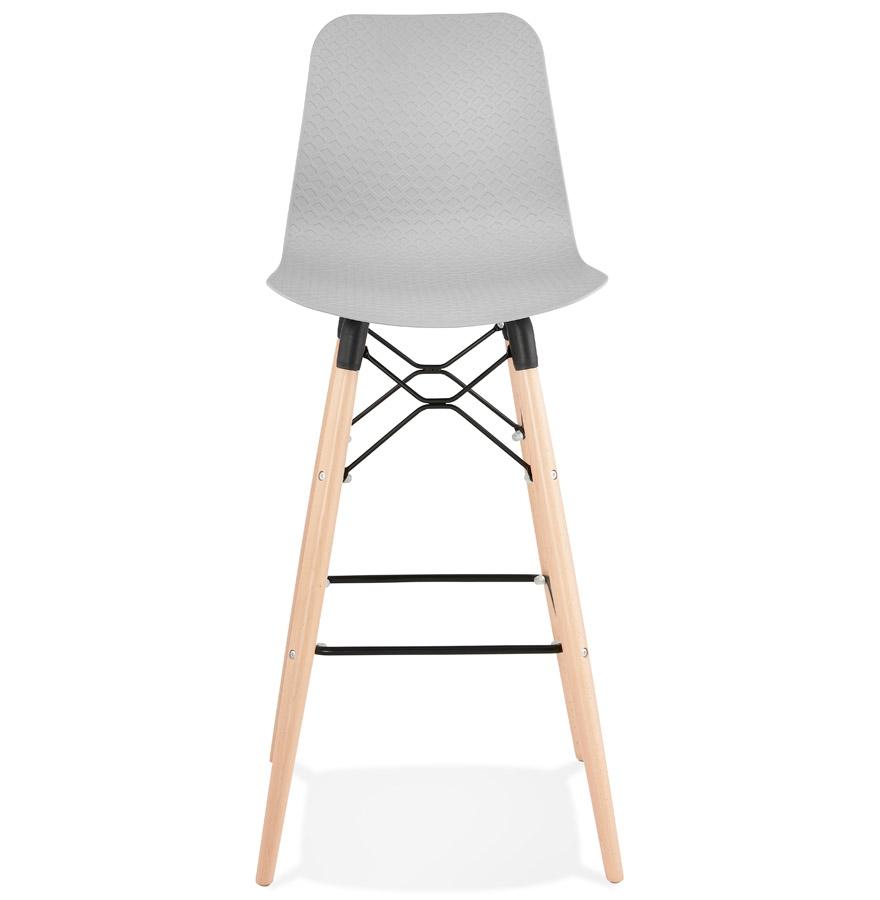 Tabouret de bar design ´MOZAIK´ gris style scandinave