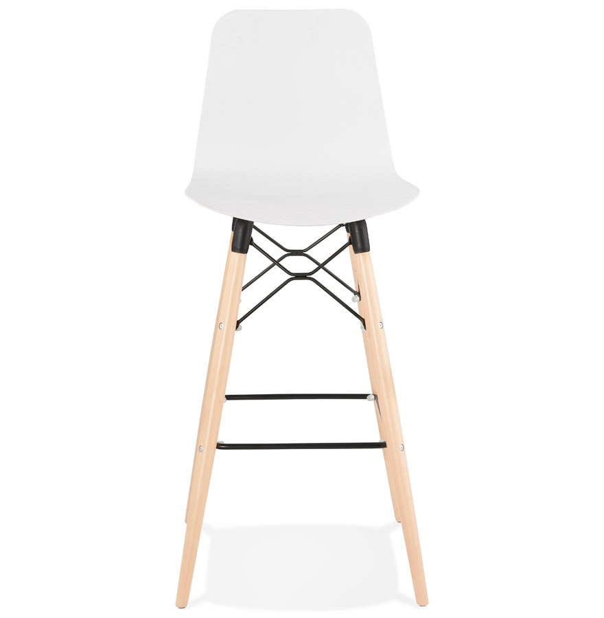 Tabouret de bar design ´MOZAIK´ blanc style scandinave