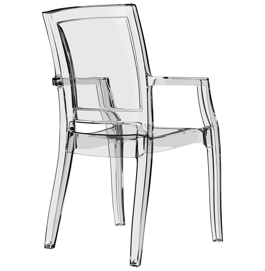 chaise design nala en mati re plastique transparente. Black Bedroom Furniture Sets. Home Design Ideas