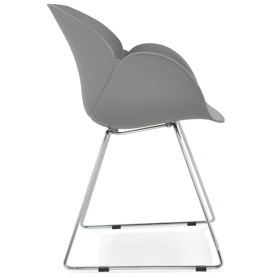 Chaise design ´NEGO´ grise en matière plastique
