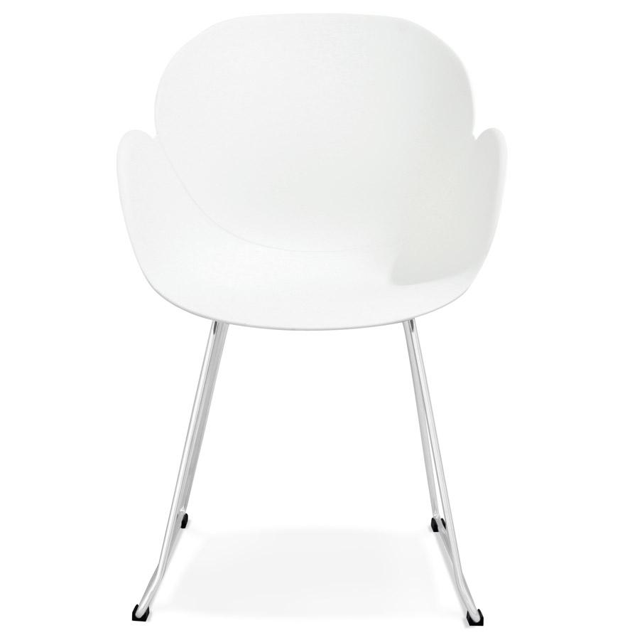 Chaise design ´NEGO´ blanche en matière plastique