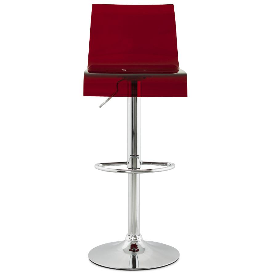 tabouret de cuisine nemo r glable en plexiglas rouge. Black Bedroom Furniture Sets. Home Design Ideas