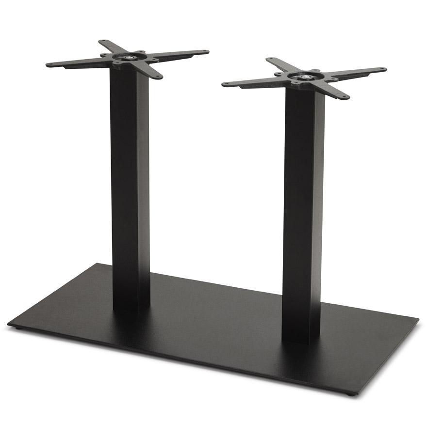 pied de table nero double 75 en m tal noir. Black Bedroom Furniture Sets. Home Design Ideas