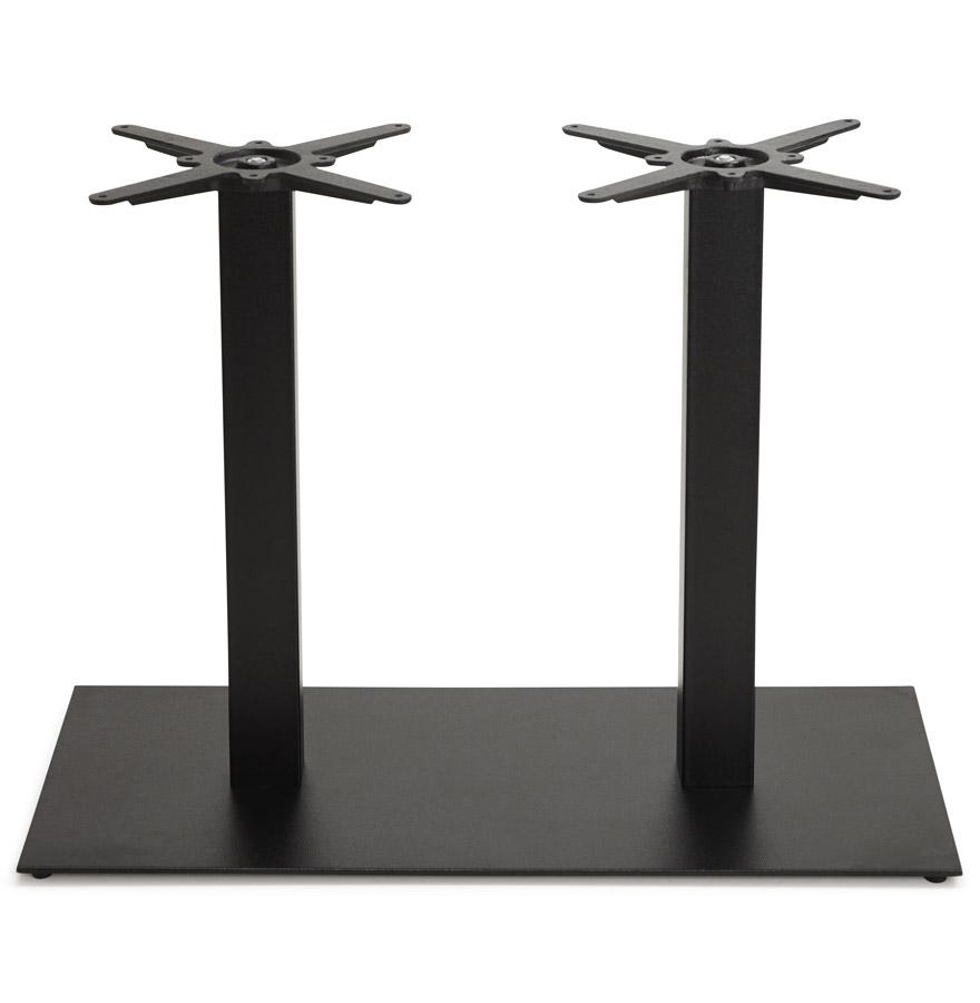 Pied de table ´NERO DOUBLE´ 75 en métal peint noir
