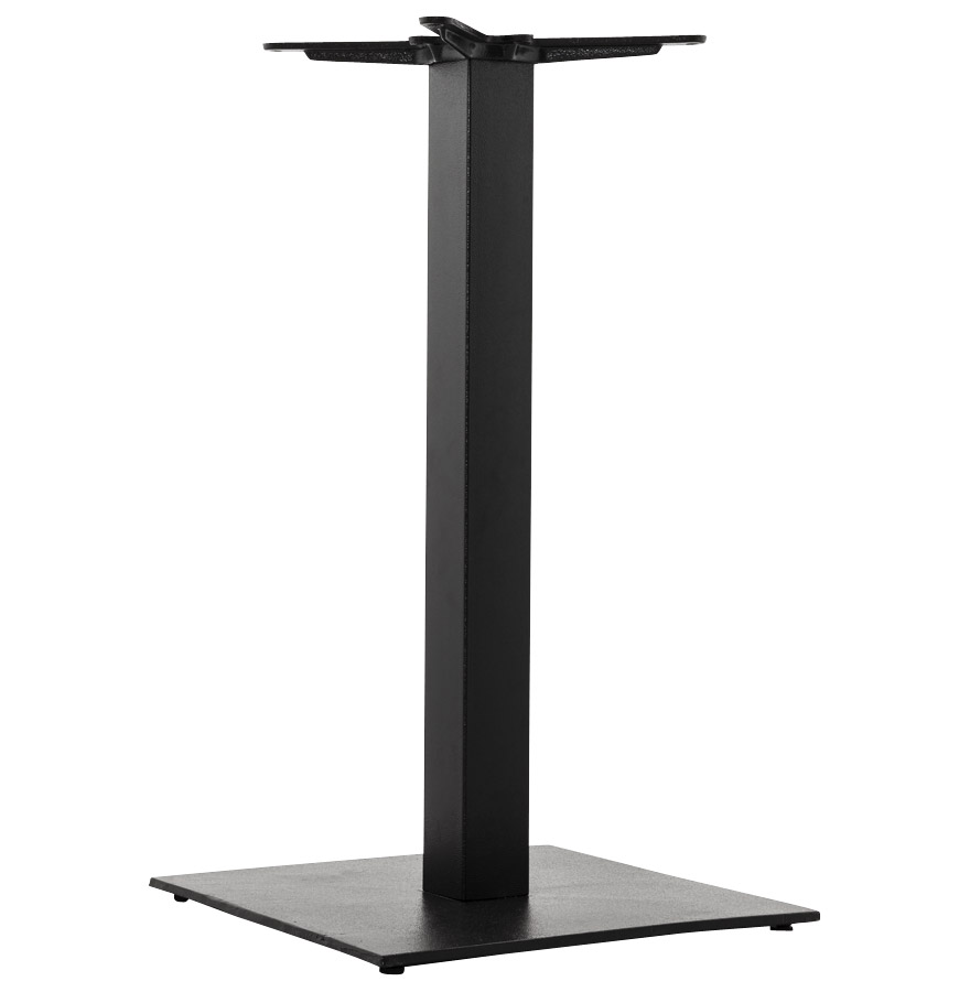 pied de table nero 90 en m tal noir base carr e. Black Bedroom Furniture Sets. Home Design Ideas